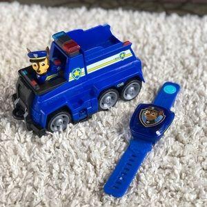 "Paw Patrol Chase 7"" Vehicle & Figure V-Tech Watch"